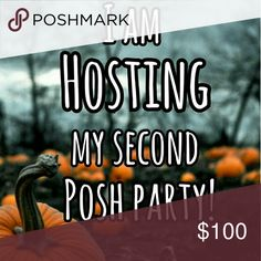 I am hosting my second posh party! I am so excited to be hosting my second poshmark party. The party is November 8th at 3pm. Theme is still TBA. I can't wait to start checking everyone's closet for host picks! Please help me share🎃 Accessories