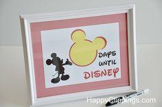 Countdown to Disney World printable.