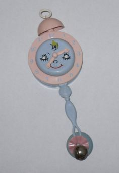 Vintage baby rattle, 1960's.