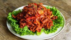 Pork Bulgogi 16 Spicy Pork Bulgogi Recipe, Ground Beef Bulgogi Recipe, Chicken Recipes Video, Tofu Recipes, Chicken Salad Recipes, Korean Recipes, Filipino Recipes, Eggplant Rollatini Recipe