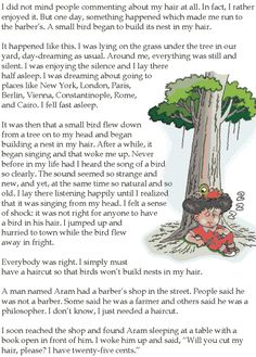 Grade 5 Reading Lesson 25 Short Stories The Barbers Uncle 1 Stories With Moral Lessons, English Moral Stories, Short Moral Stories, English Stories For Kids, Moral Stories For Kids, English Novels, Short Stories For Kids, English Story, Reading Stories