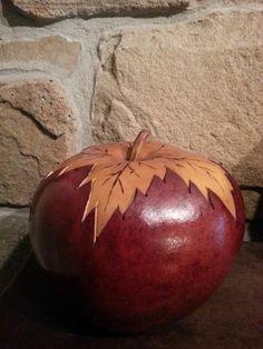Handmade gourd Leaf Box by Createbycoloring on Etsy, $30.00