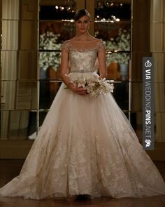 Amazing! - Glamour - Best New Wedding Dresses. Love this dress, but there's something weird with the upper half. | CHECK OUT SOME TO DIE FOR PICS OF NEW WEDDING DRESSES 2016 HERE AT WEDDINGPINS.NET | #weddingdresses2016 #designerwedding #new #2016 #weddings #weddingvows #vows #tradition #nontraditional #events #forweddings #iloveweddings #romance #beauty #planners #fashion #weddingphotos #weddingpictures