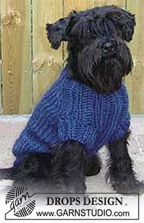 Pets & Toys - Free knitting patterns and crochet patterns by DROPS Design Knitted Dog Sweater Pattern, Dog Coat Pattern, Knit Dog Sweater, Drops Design, Knitting Patterns Free Dog, Free Pattern, Free Knitting, Crochet Patterns, Pet Sweaters