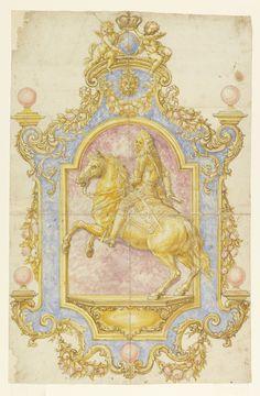 """Drawing, """"Wall Decoration for Cosimo III de' Medici"""", ca. 1690 Giovanni Battista Foggini"""