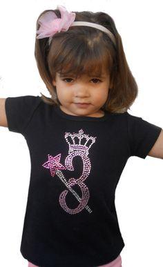 Birthday Princess T-Shirt or Tank Top - Custom Rhinestone Birthday T-Shirt. $22.95, via Etsy.