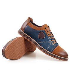 2d1bbed2cf21 Homme Chaussures Cuir Printemps Eté Automne Hiver Confort Oxfords Lacet Pour  Décontracté Gris Marron de 5302041