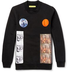 Raf Simons Sterling Ruby Planet-Collage Printed Cotton Sweatshirt