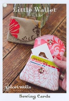 Items similar to Valori Wells Sewing Cards - Little Wallet Pattern - SHIPS FREE WITH FABRIC PURCHASE on Etsy