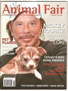 Mickey Rourke: Schenectady, NY native, animal lover, former boxer & fashionable guy