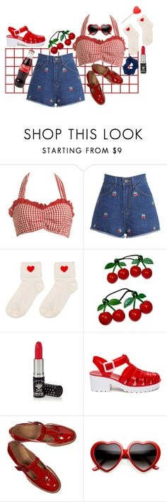 """lolita 1997"" by dottieiscool ❤ liked on Polyvore featuring Wet Seal, Manic Panic NYC, Summer and lolita"