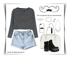 """This Mustache Had Its Own Mustache"" by cherilyncherie ❤ liked on Polyvore"