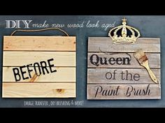 How to age wood and transfer images to wood - YouTube
