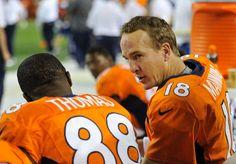 Demaryius Thomas and Peyton Manning