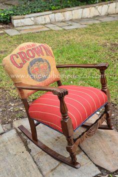 Custom Order - Vintage Crown Rocking Chair - Sold