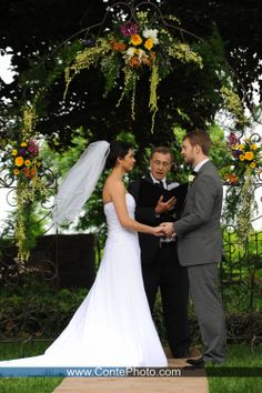 Outdoor Ceremony At The Civic Club Harrisburg PA ContePhoto