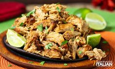 Slow Cooker Pork Carnitas....This was so easy and tasted so over the top...served it with guacamole and cilantro lime rice...loved it...