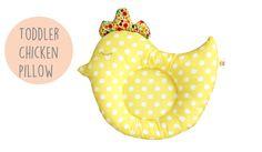 Toddler pillow, baby pillow, chicken pillow, baby shower gift, decorative pillow, kids pillow , animal pillow, toddler,nursery pillow,