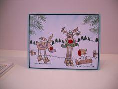 Hobby Art stamps. Card by Linda Walker