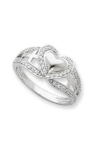 Pure Heart Ring - Fire tests the purity of silver and gold but the Lord tests the heart. Proverbs 173