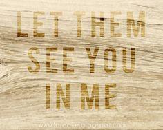 No longer I, but Christ in me.