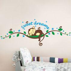 Found it at Wayfair - Imagineer Sweet Dreams Monkey Wall Decal