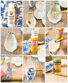 Seashell Painting, Seashell Art, Seashell Crafts, Beach Crafts, Diy And Crafts, Arts And Crafts, Oyster Shell Crafts, Oyster Shells, Oyster Diy