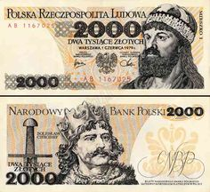 1974 series Polish banknote, featuring King Mieszko I of Poland on the obverse side, and Bolesław I the Brave on the reverse side. Money Template, Money Images, Make Money From Pinterest, Money Worksheets, Rare Coins Worth Money, Money Notes, Euro Coins, Coin Worth, My Childhood Memories