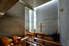 Church of the Light (Sunday School), Tadao Ando, Ibaraki, Japan Ibaraki, Tadao Ando, Sunday School, Japan, Cool Stuff, Lighting, Architecture, Violin, Table