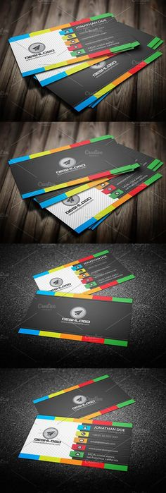 Stylish corporate business card business journal business card elegant colorful business card reheart Gallery