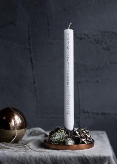 candle counting the days until xmas |Xmas decoration .Weihnachtsdekoration .décoration noël| Broste Copenhagen |