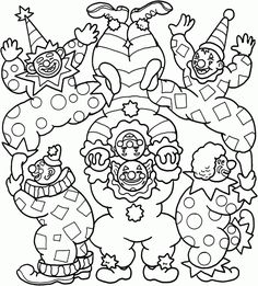 printable circus coloring pages.html