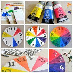 Tiny Rotten Peanuts | Color Wheel For Kids: Make A Cool Clock | http://tinyrottenpeanuts.com