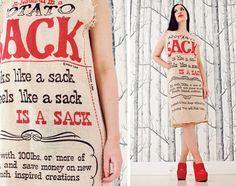 stylish potato sack dress