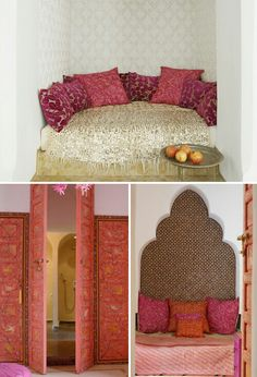Red, pink,orange and gold colors you might need on your Moroccan decor
