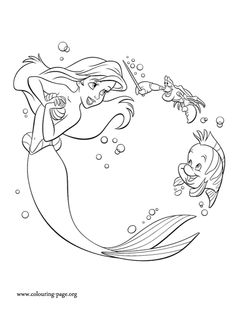 Disney Coloring Pages - Aerial | Mermaid coloring book ...