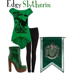 Edgy Slytherin, created by nearlysamantha on Polyvore