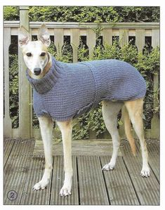 Hand Knitted Coats and sweaters for Dogs pattern only Greyhound Coat Pattern, Dog Coat Pattern, Knitted Dog Sweater Pattern, Knit Dog Sweater, Pet Sweaters, Dog Pajamas, Grey Hound Dog, Dog Coats, Whippet