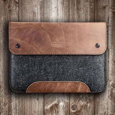 MacBook Pro 13 15 12 case leather felt sleeve suitable crafted for MacBook gift men birthday valentine husband boyfriend college student by werktat on Etsy https://www.etsy.com/listing/550751143/macbook-pro-13-15-12-case-leather-felt