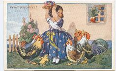 Easter Traditions, Vintage Easter, Drawing, Retro, Painting, Postcards, Holidays, Artist, Engraving Ideas