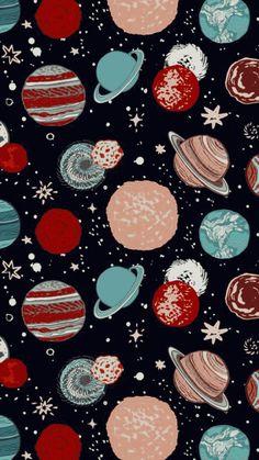 Wallpaper Iphone - 惑星 ☆彡 Tumblr Wallpaper, Cool Wallpaper, Wallpaper Space, Drawing Wallpaper, Beautiful Wallpaper, Mobile Wallpaper, Wallpaper Quotes, Cute Backgrounds, Cute Wallpapers