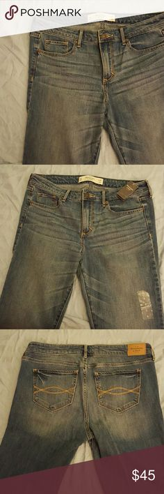 New Abercrombie & Fitch size 8 Brand new with tags. Medium-light blue denim. Skinny boot style. Cannot model. Abercrombie & Fitch Jeans Boot Cut