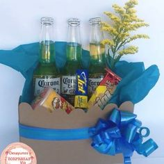 Man Bouquet, Fiji Water Bottle, Diy And Crafts, Blessed, Candy, Box, Father's Day, Creative Gifts, Creativity