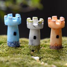 3 Pçs/set Kawaii Zakka Suculentas Beacon Torre Resina Artesanato Fada Do Jardim Em Miniatura Para Casa Acessórios de Decoração(China (Mainland))