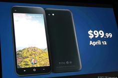 The HTC First, which has Facebook Home pre-installed, will be available on April 12 for $99 exclusively