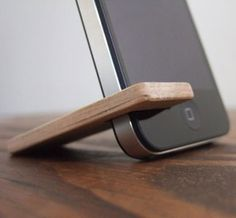 * wooden iphone stand