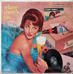 Russ David - Where There's Life (RCA: 1960) This easy listening LP makes clever use of the Droste effect - note the self-referential album cover in the top right hand corner! Looks like there's some product placement, too... #albums #vinyl #records #LP