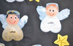 preschool angel crafts ornaments | Another fun craft we made was this tree. The kids enjoyed using their ...