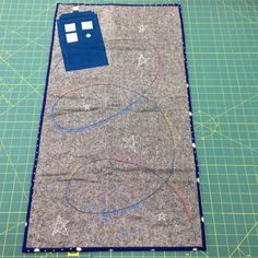 Doctor Who craft swap full view. The time vortex is embroidered with quotes from 11 and Amy Pond.