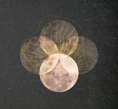Full Moon 12 x 8 Digital Illustration Fine Art by ThePixelFiles, $28.00